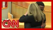 See victim's brother hug convicted ex-cop Amber Guyger 3