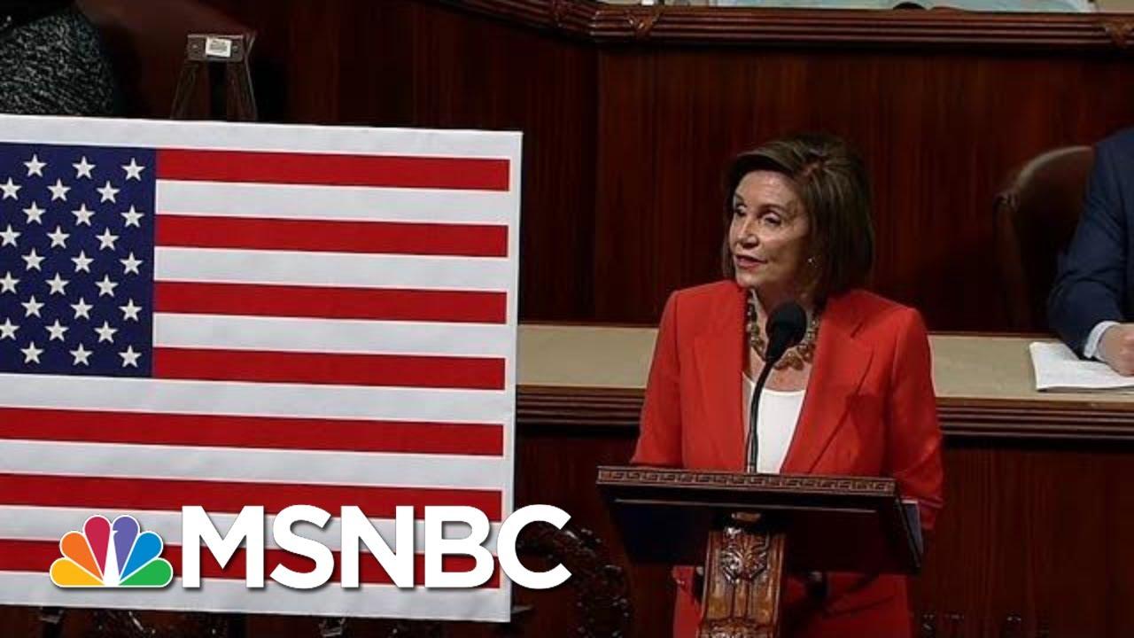 Nancy Pelosi On Impeachment Resolution Vote: 'Let Us Defend Our Democracy'   MSNBC 7