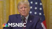 A Swearing And Ranting Trump Refuses To Answer The Key Ukraine Question | The 11th Hour | MSNBC 4