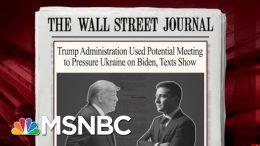 New Texts Show Pressure On Ukraine To Investigate Bidens | Morning Joe | MSNBC 8