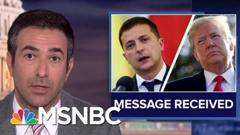 Top Diplomat Rips Trump Ukraine 'Scam' As Damning Texts Emerge | The Beat With Ari Melber | MSNBC 1