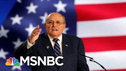 Rudy Revue: Rudy Giuliani's Wild Week Defending Trump On FOX News | The 11th Hour | MSNBC 4