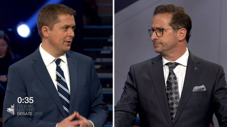 Blanchet and Scheer debate over the future of pipeline projects in Quebec 1