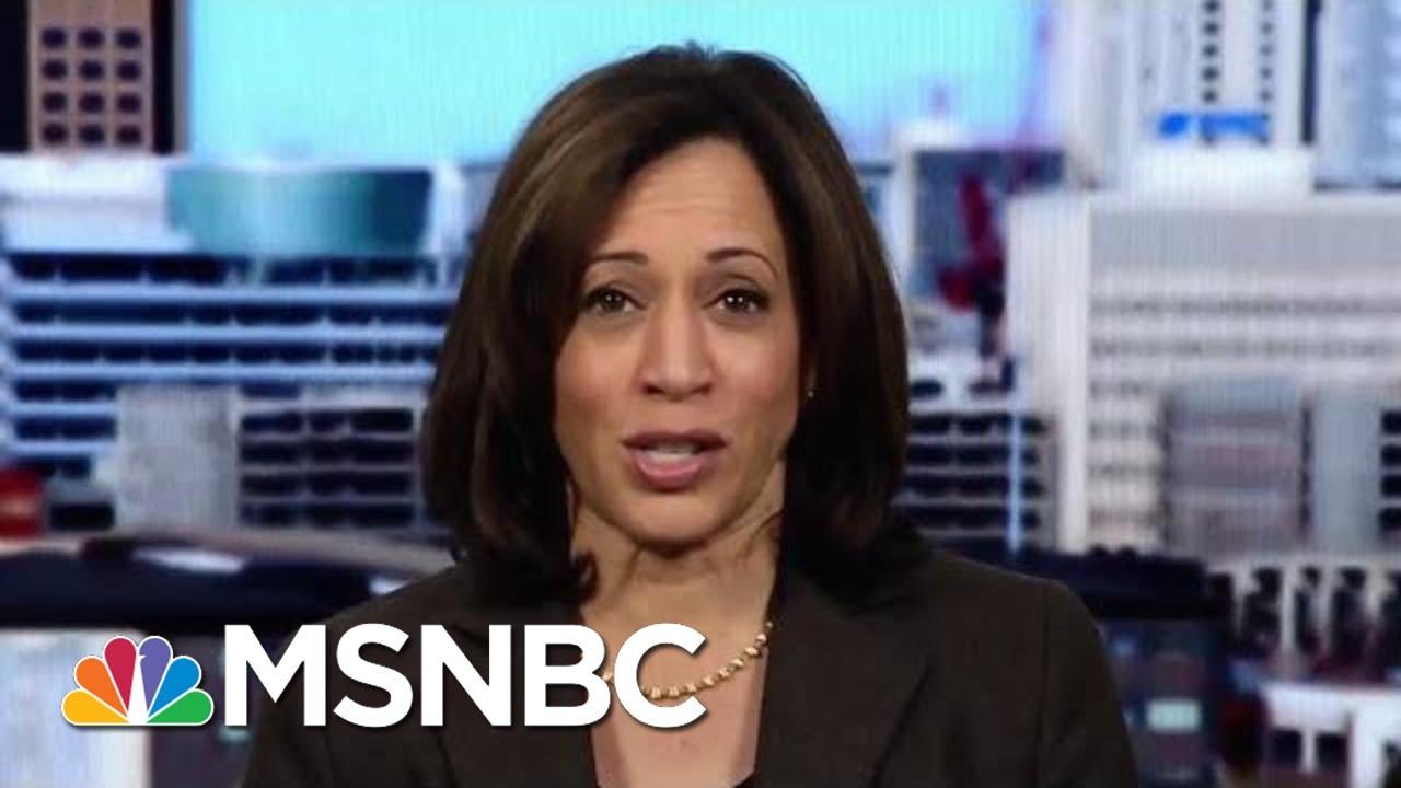Senator Kamala Harris: People Want To Know Our Government Has Integrity | Katy Tur | MSNBC 7