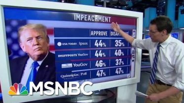 Support For President Donald Trump's Impeachment Higher Than Nixon, Clinton | Hardball | MSNBC 6