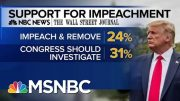 Majority Of Americans Back Impeachment Inquiry Or Trump's Removal From Office | MTP Daily | MSNBC 4