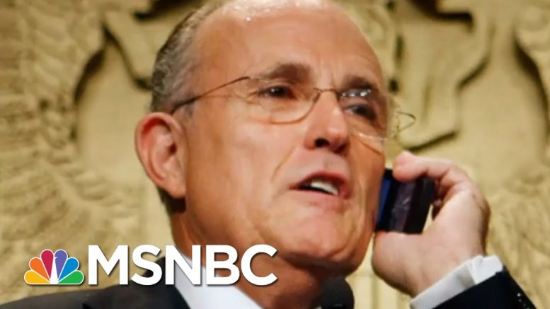 Rudy Giuliani Subpoenaed In Trump Impeachment Probe   The Beat With Ari Melber   MSNBC 1