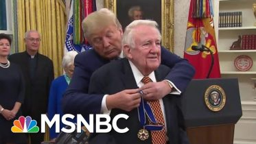 Ed Meese An Unlikely Recipient Of Honor ...Except By Trump   Rachel Maddow   MSNBC 2