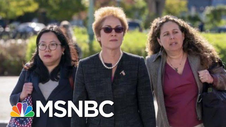 Ex-Ukraine Amb Gives Damning Testimony, Trump Pressured State Dept To Oust Her | Hardball | MSNBC 1