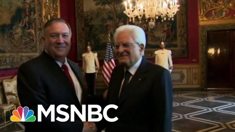 Pompeo Accuses House Democrats Of Trying 'To Intimidate' State Department | Hallie Jackson | MSNBC 1