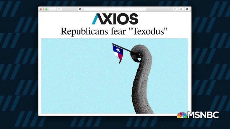 1 Big Thing: Republicans fear 'Texodus' 1