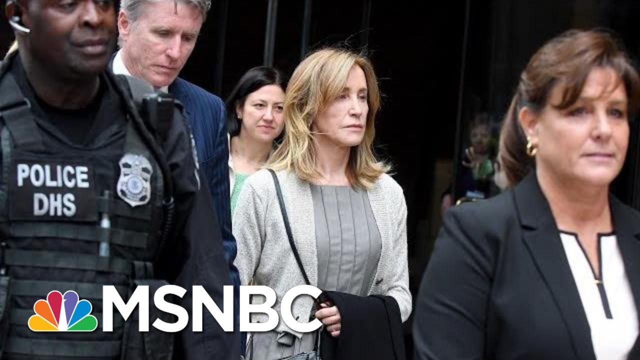Felicity Huffman Reports To Prison For 14-Day Sentence   Velshi & Ruhle   MSNBC 5