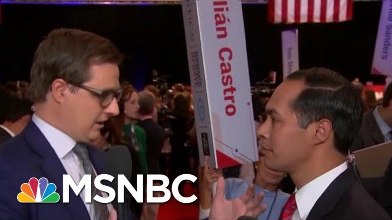 Julián Castro On Debate: We Didn't Talk About Immigration, Housing | All In | MSNBC 1