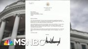 Trump Sent To Erdogan Is 'So Weird We Had To Check With WH To Make Sure It's Real | Deadline | MSNBC 2