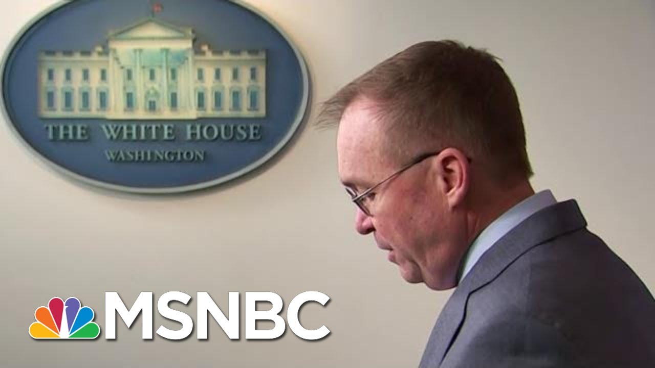 Mulvaney: Tries To Walks Back That Trump Held Up Ukraine Aid For Political Reason   Hardball   MSNBC 1
