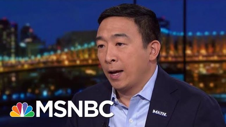 Andrew Yang: No Easy Answer To Fixing Trump's Disaster In Syria   Rachel Maddow   MSNBC 1