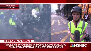 Violent protest in HK follow China's anniversary celebrations 2