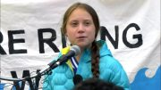 'We stand together': Greta Thunberg at climate rally in Edmonton 2