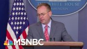 Subpoena Deadline Today For Docs From Mick Mulvaney, Perry | Velshi & Ruhle | MSNBC 5