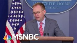 Subpoena Deadline Today For Docs From Mick Mulvaney, Perry | Velshi & Ruhle | MSNBC 8
