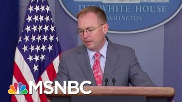 Subpoena Deadline Today For Docs From Mick Mulvaney, Perry | Velshi & Ruhle | MSNBC 6