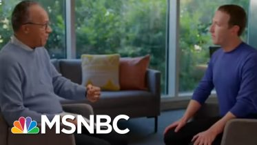Mark Zuckerberg Believes Politicians Should Be Uncensored On Facebook | Velshi & Ruhle | MSNBC 4