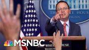 White House Brazenly Admits, Then Walks Back Ukraine Quid Pro Quo - The Day That Was | MSNBC 4
