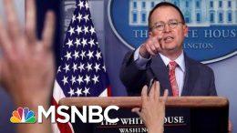 White House Brazenly Admits, Then Walks Back Ukraine Quid Pro Quo - The Day That Was | MSNBC 3
