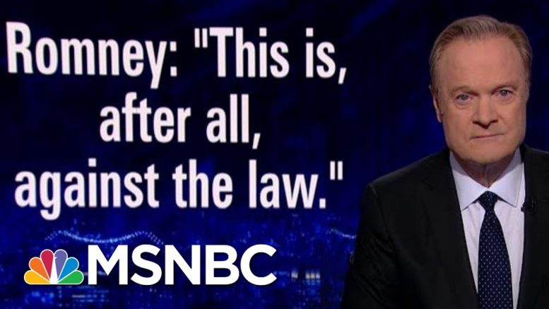Romney On Trump's Foreign Assistance Call, 'This Is... Against The Law' | The Last Word | MSNBC 1