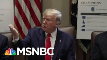 President Donald Trump Compares Impeachment Probe To 'A Lynching' | Velshi & Ruhle | MSNBC 10