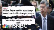 See Impeachment Smoking Gun Go Off: Aide Says Trump Led Bribery Plot | MSNBC 2