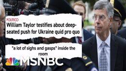 See Impeachment Smoking Gun Go Off: Aide Says Trump Led Bribery Plot | MSNBC 1