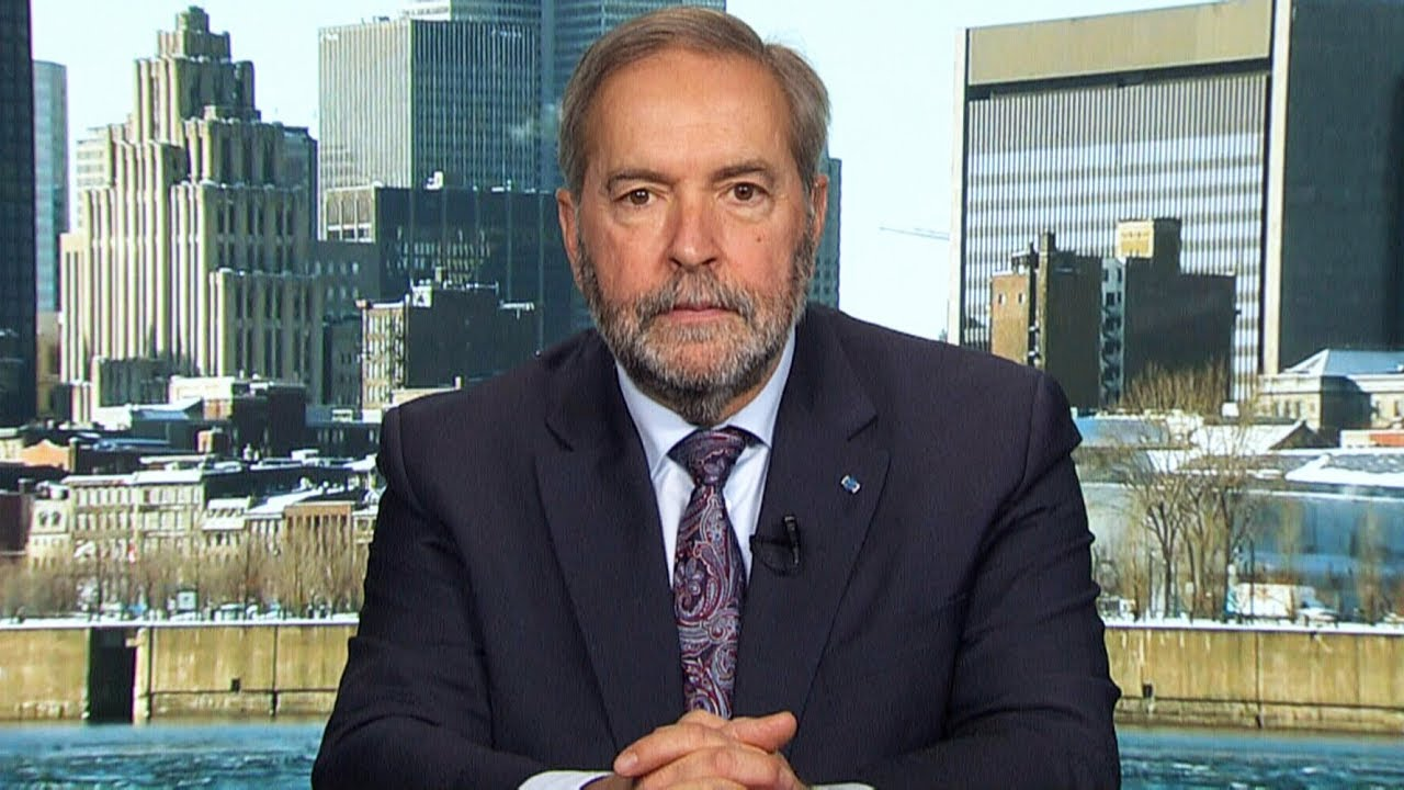 Mulcair breaks down Singh and Scheer's shadow cabinets 1