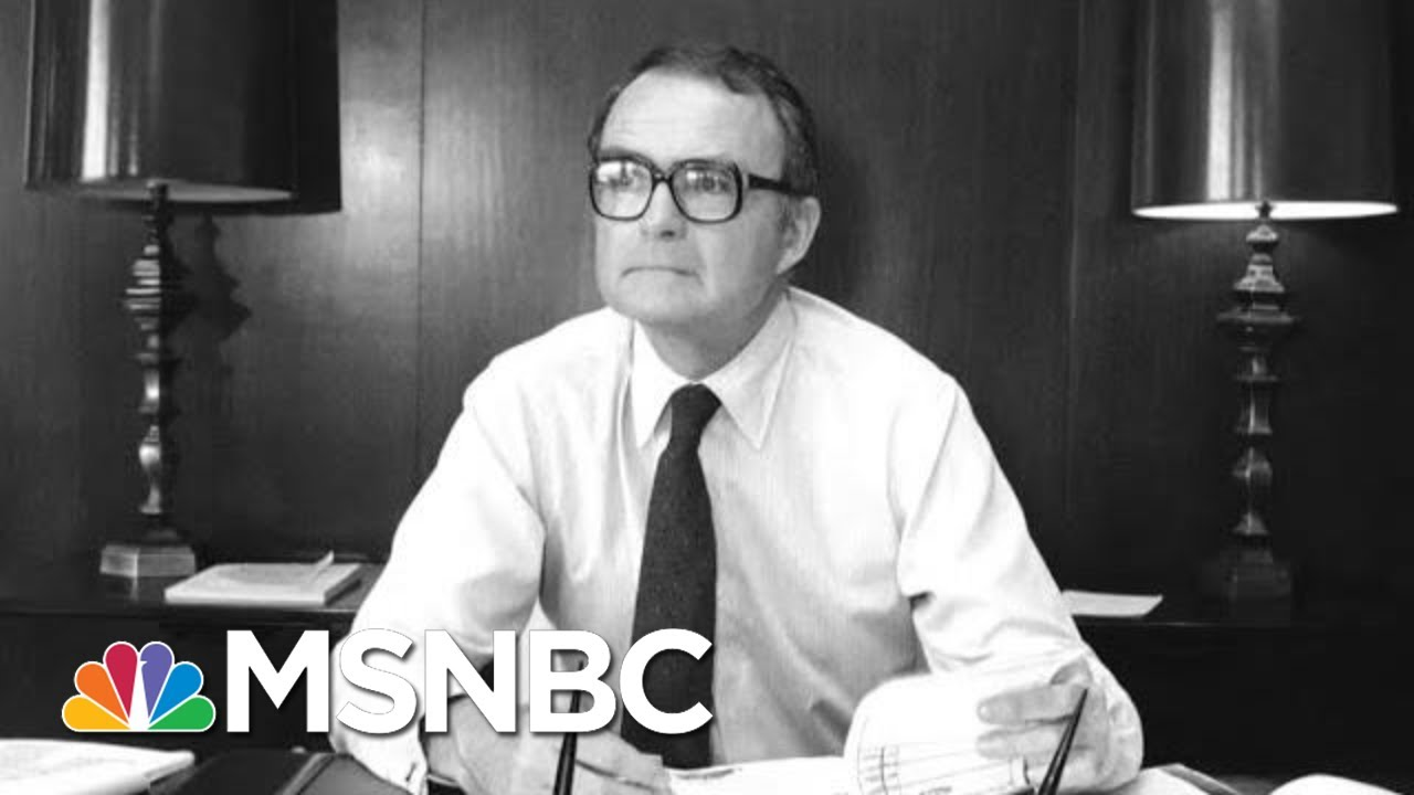 William Ruckelshaus, The Man Who Defied Nixon, Dies At 87 | The 11th Hour | MSNBC 9