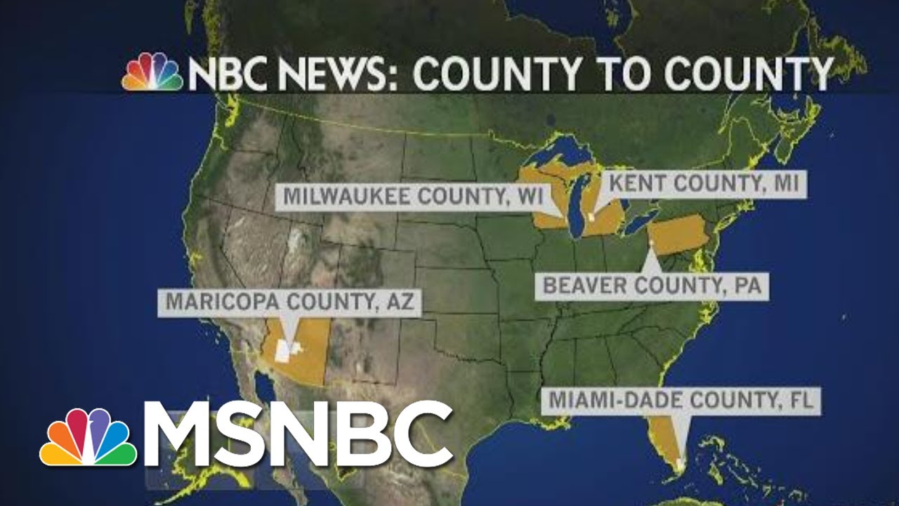 County To County: 5 Counties, 5 Battleground States And How They Impact 2020 | MTP Daily | MSNBC 3