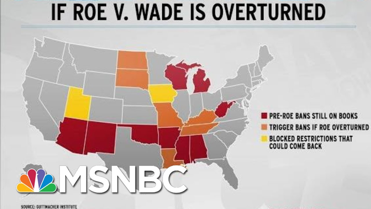 Trump/McConnell Supreme Court Poses New Threat To Roe V. Wade | Rachel Maddow | MSNBC 3