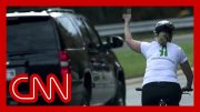 Woman who flipped off Trump motorcade wins election 5