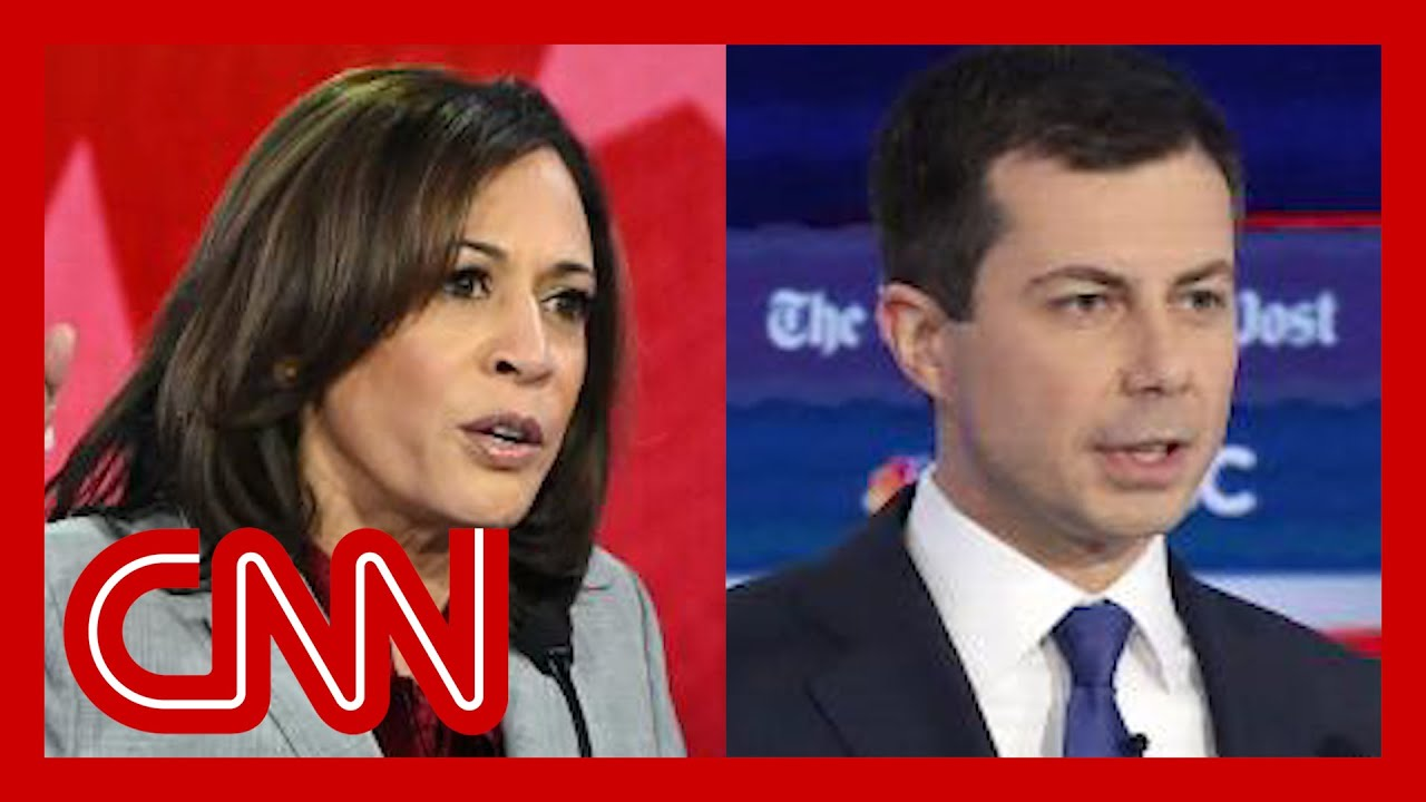 Kamala Harris and Pete Buttigieg weigh in on race during debate 3