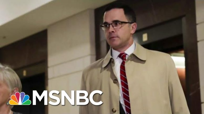 House Member: W.H. Official Corroborating Fact Witness On Trump Quid Pro Quo   The Last Word   MSNBC 1