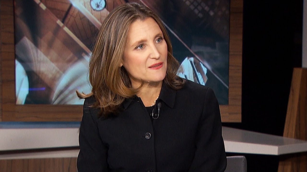 Freeland discusses her goals as Canada's deputy prime minister 2
