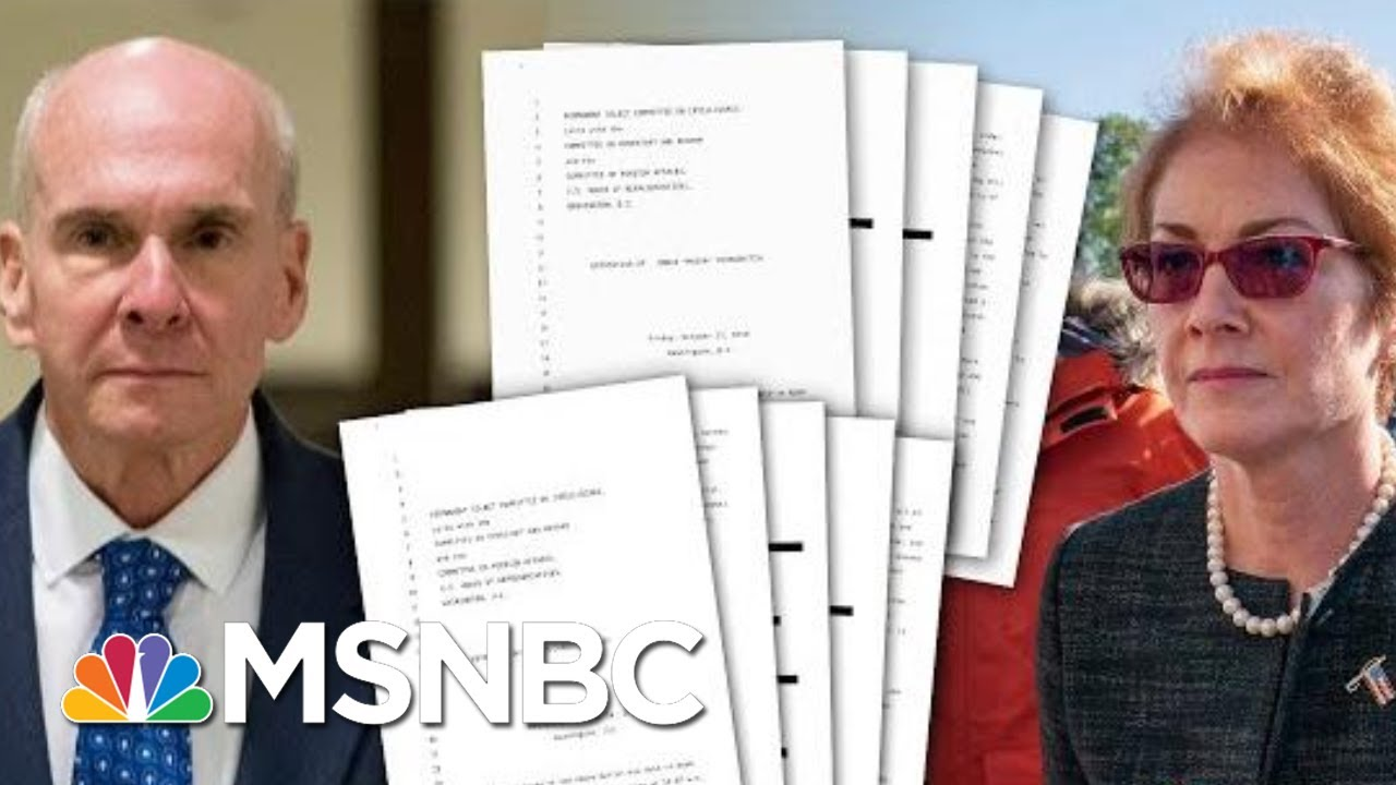 The First Look At The Transcripts From Witnesses In The Impeachment Investigation | Deadline | MSNBC 9