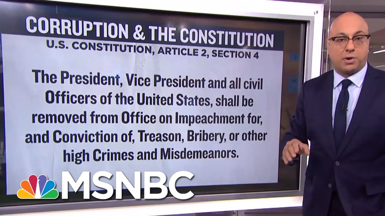 Quid Pro Quo, Bribery, And The Constitution | Velshi & Ruhle | MSNBC 9