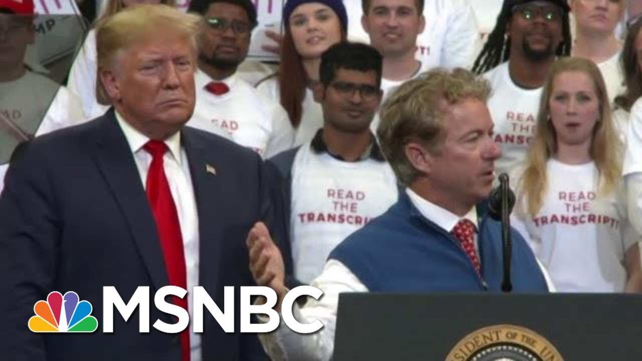 Senate GOP At Odds Over Call To Unmask Whistleblower | The 11th Hour | MSNBC 1