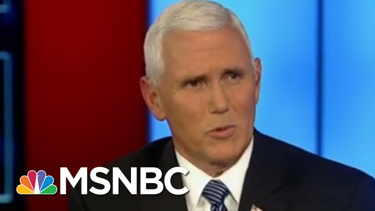 Mike Pence's Views On Whistleblowers Now And Then | Morning Joe | MSNBC 5