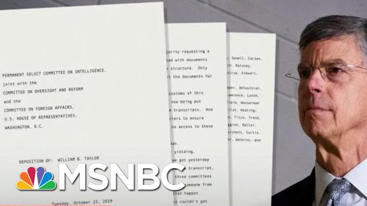 'This for That':  U.S. Diplomat Directly Ties Trump To Ukraine Plot - The Day That Was | MSNBC 9