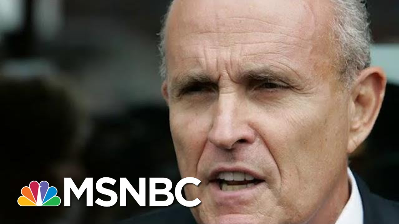 'He's Gonna Sing': Giuliani Hires 3 Lawyers Amid Ukraine Scandal | The Beat With Ari Melber | MSNBC 4