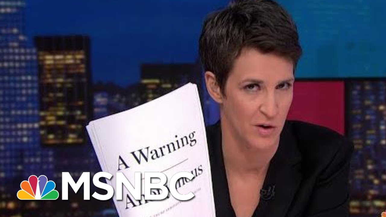 Exclusive: Anonymous Author Depicts Deep Trump Admin Dysfunction | Rachel Maddow | MSNBC 3