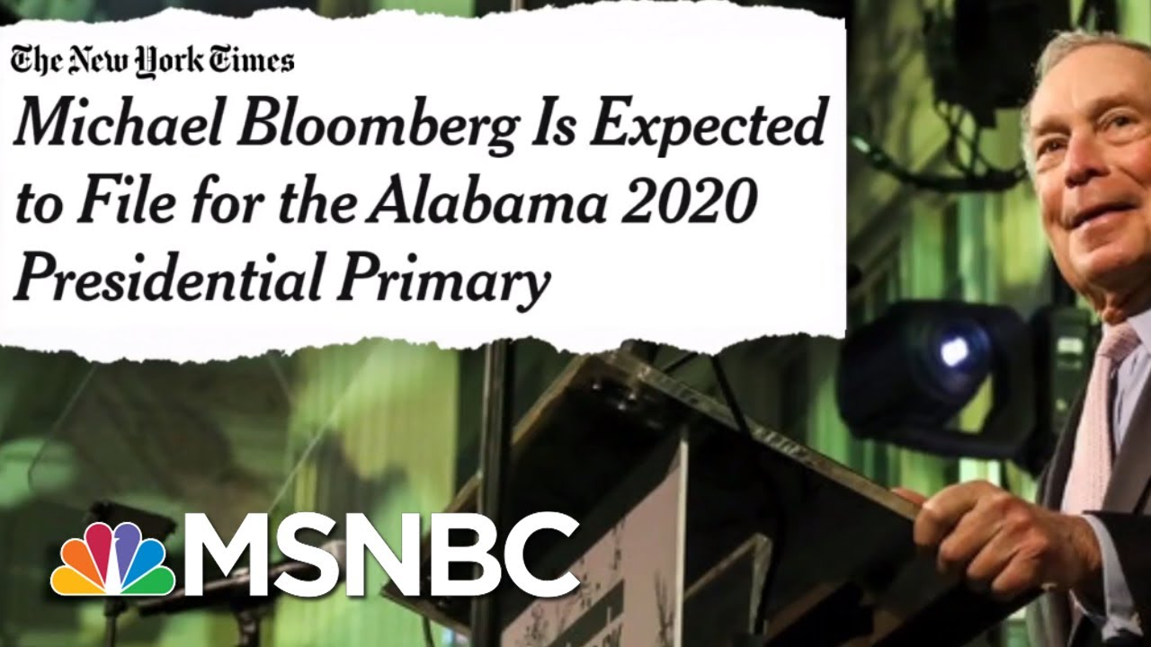 Michael Bloomberg Considering 2020 Run As Dem | The Beat With Ari Melber | MSNBC 5