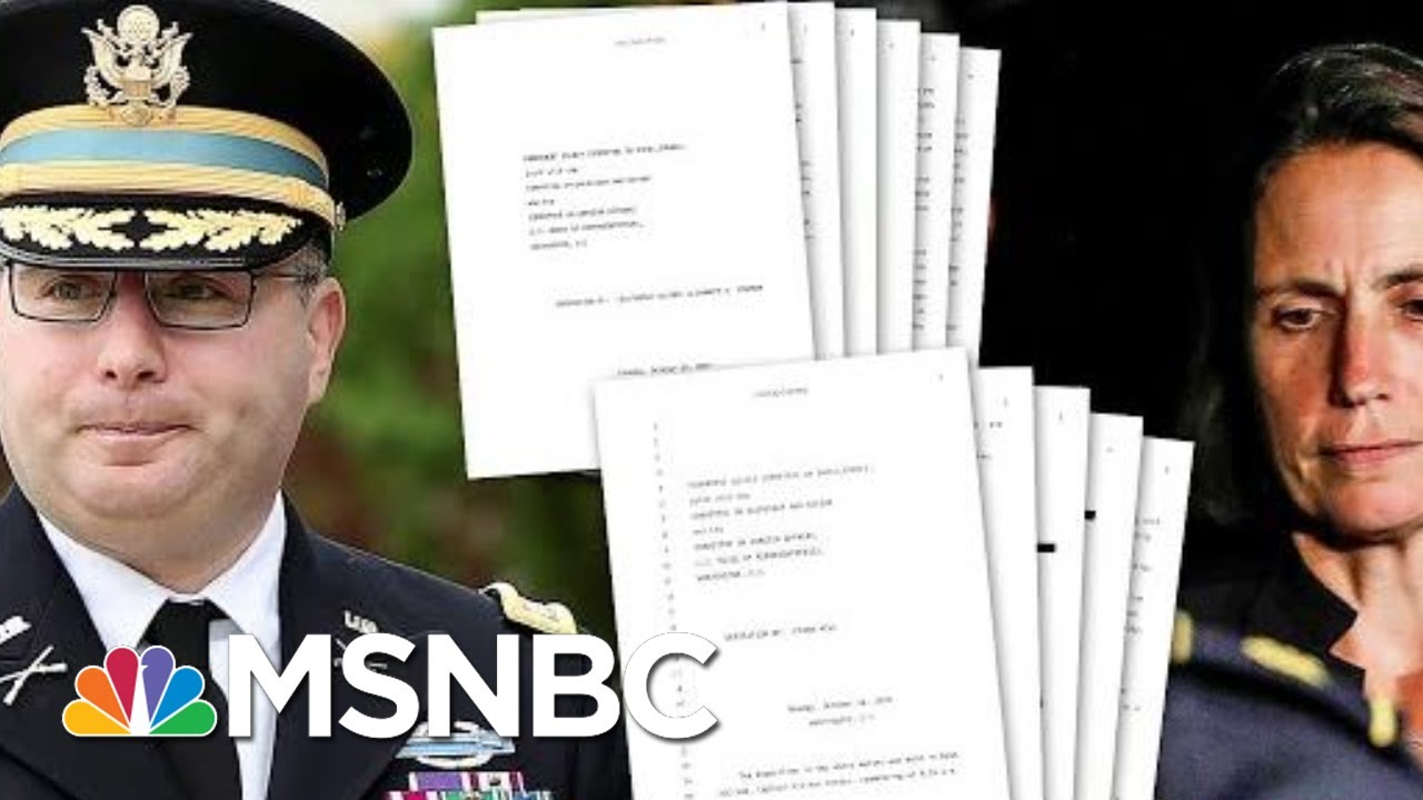 Transcripts Released From Witnesses To Key Flashpoints Of Ukraine Scandal | Deadline | MSNBC 4