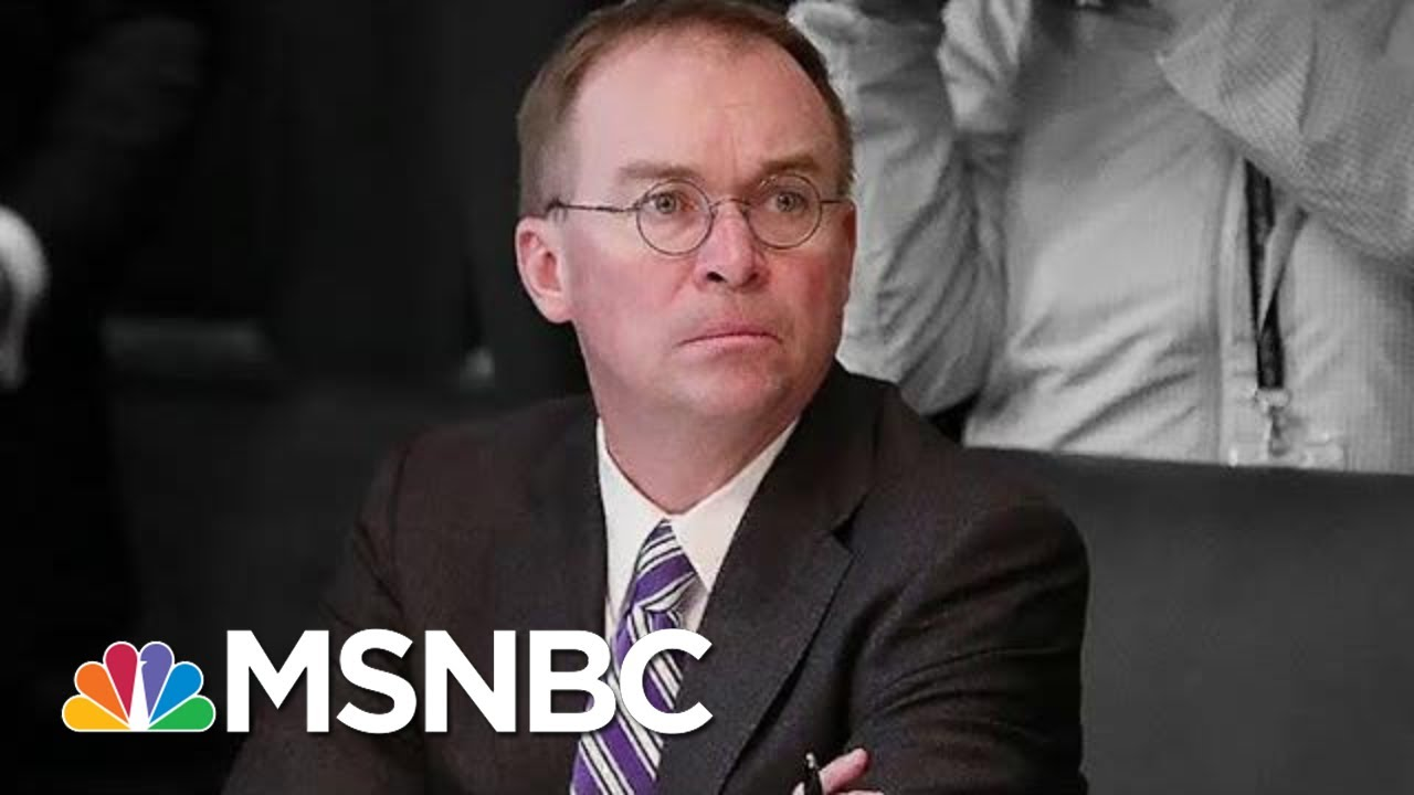 See New Impeachment Evidence Cornering Trump's Top Aide Mulvaney | The Beat With Ari Melber | MSNBC 6